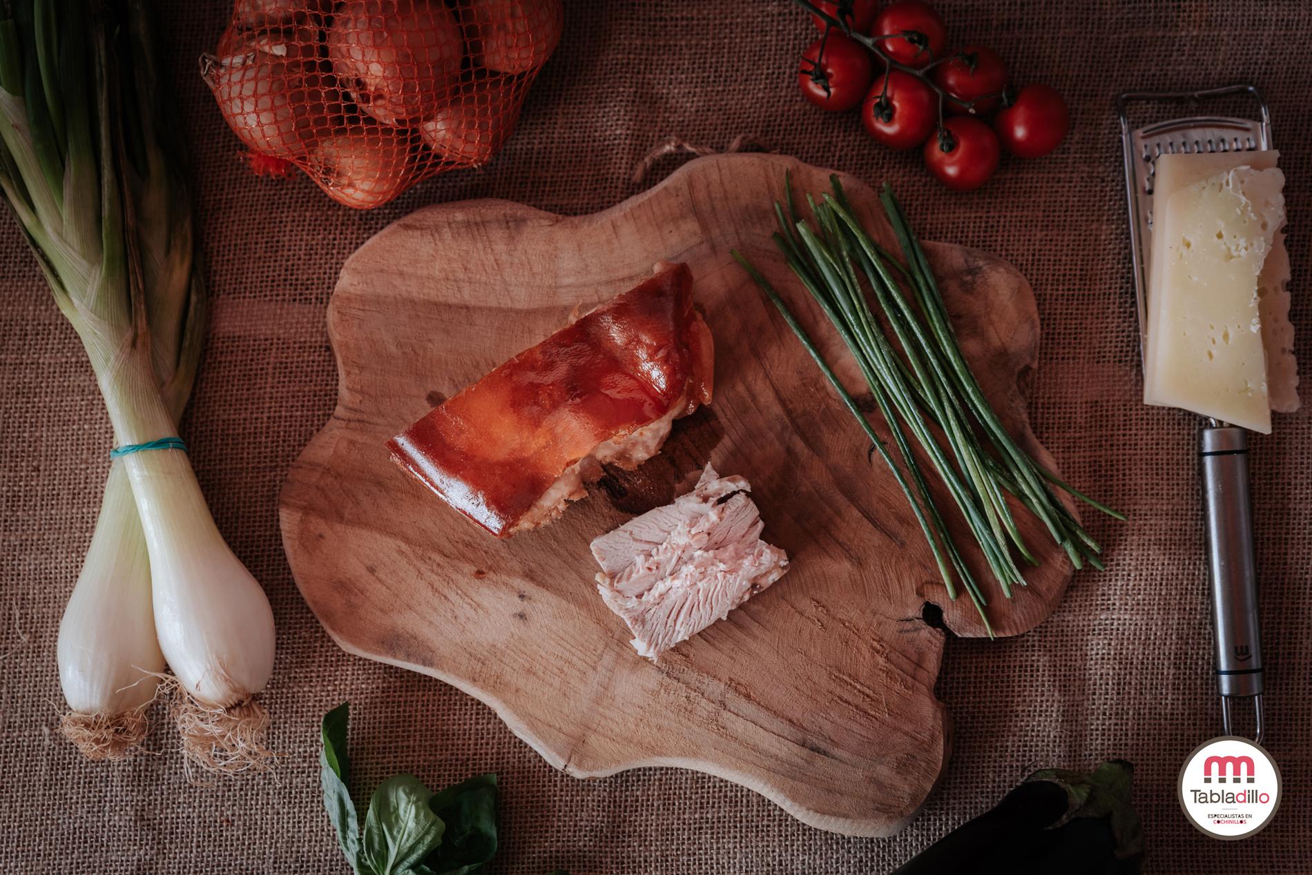 receta sana: Berenjena con verduras y cochinillo