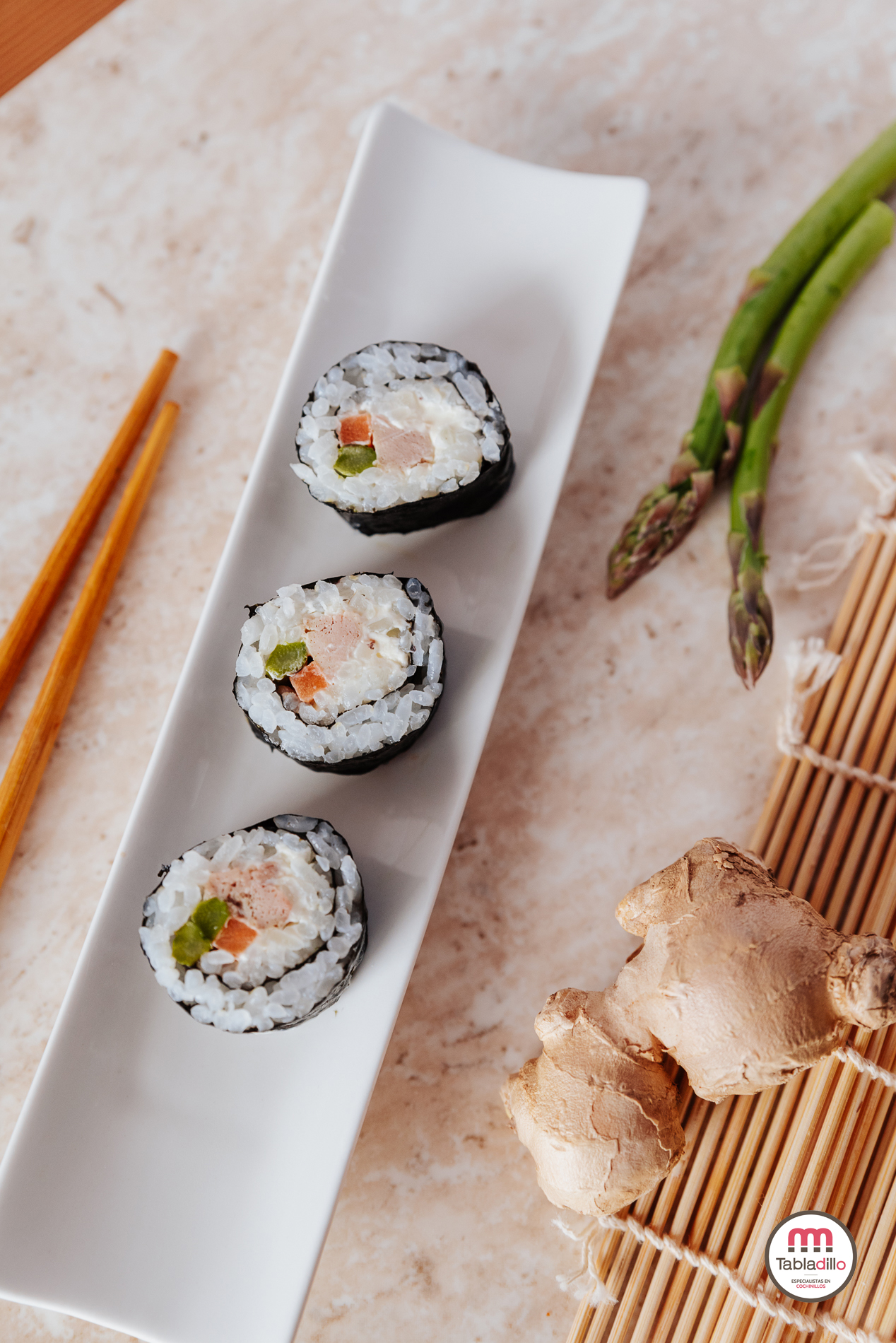 Tabladillo_ como hacer sushi con cochinillo