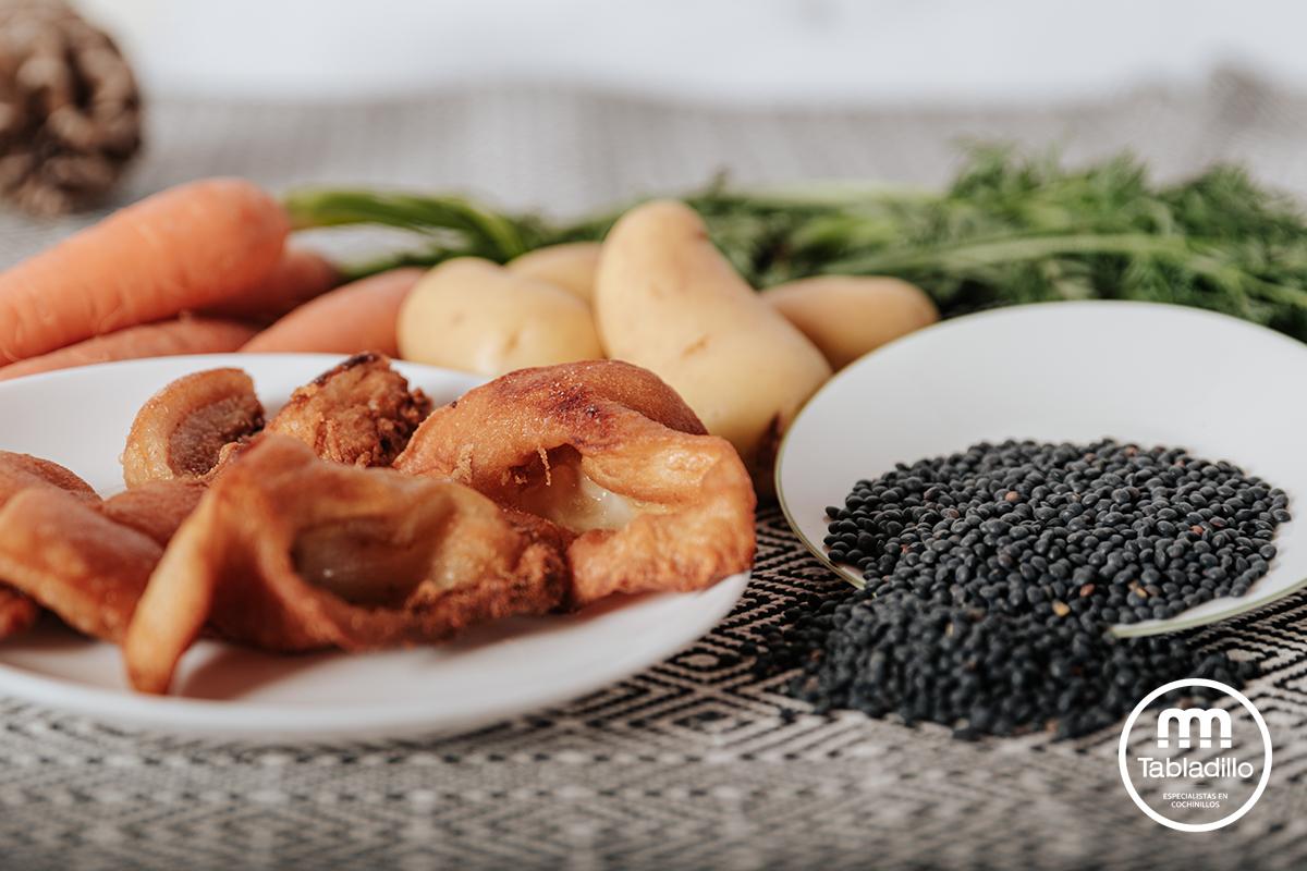 receta de lentejas con cochinillo