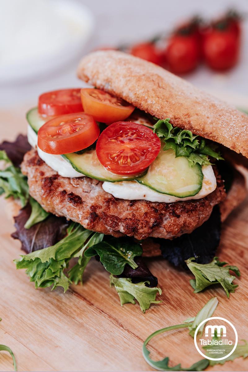 Receta de hamburguesa de cochinillo