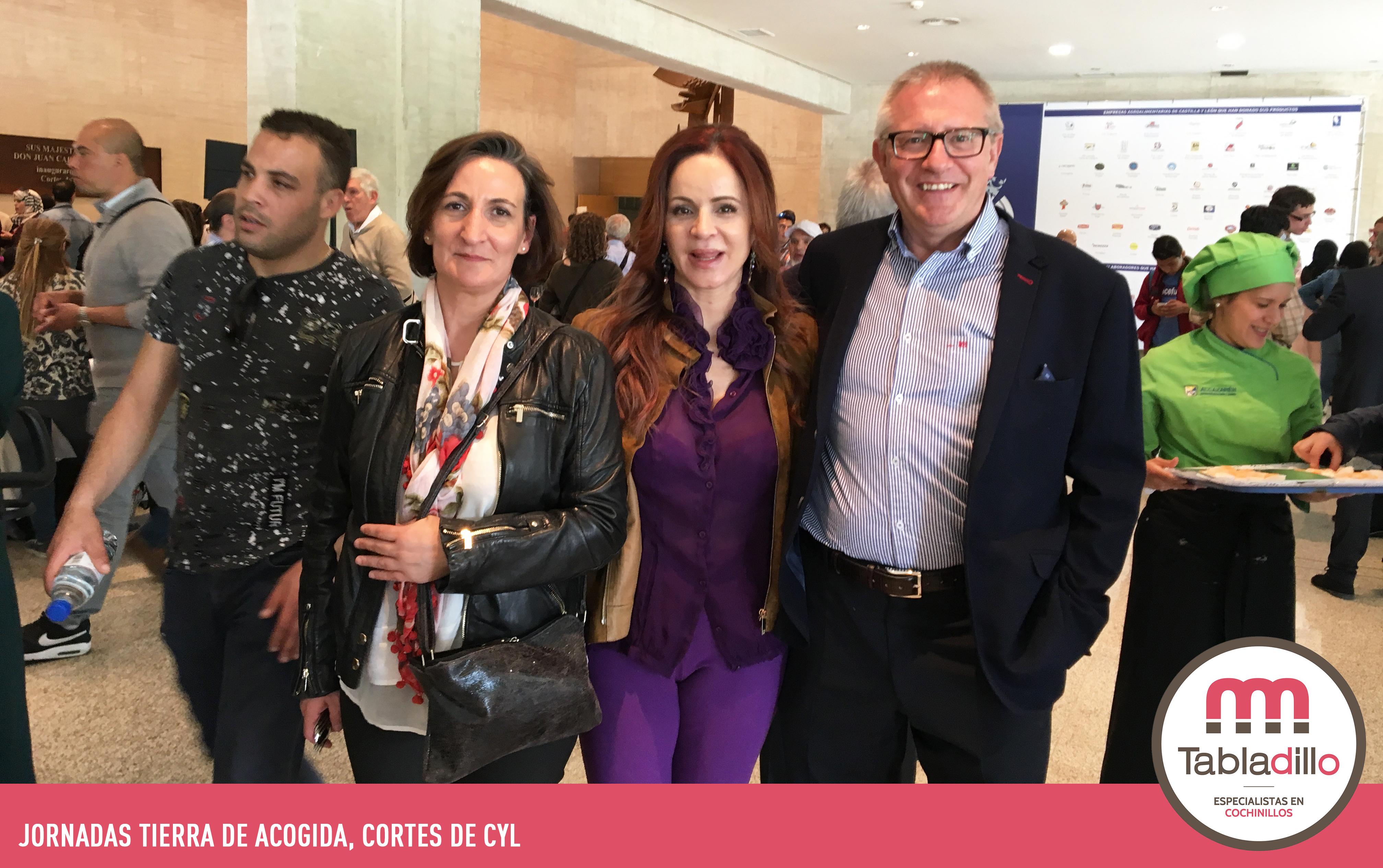 Personal de Cárnicas Tabladillo con Silvia Clemente